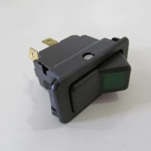3-Post Lighted Rocker Switch-Green