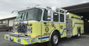 Gap Fire Company Inspects 2017 E-ONE Typhoon Pumper