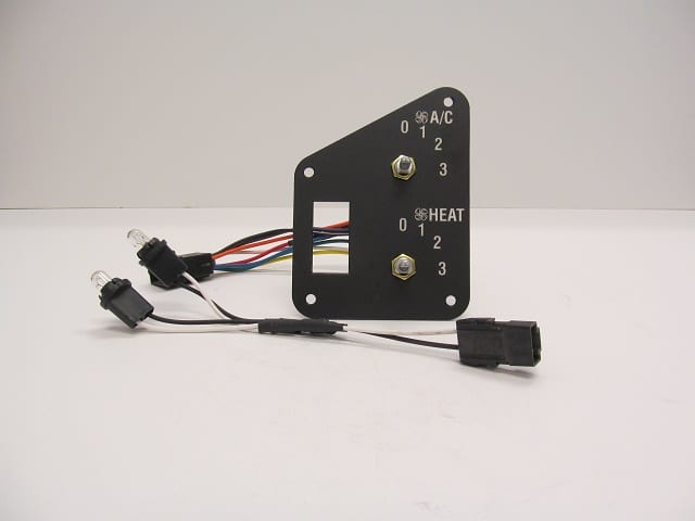 Rear Heat/AC Control Panel